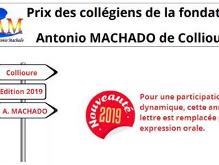 Fondation ANTONIO MACHADO: Prix des collégiens