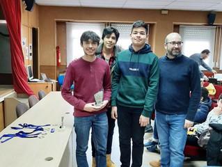 Torneo Intercentros de Ajedrez del IES Satafi, en Getafe.