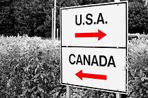 USA-Canada Border Sign
