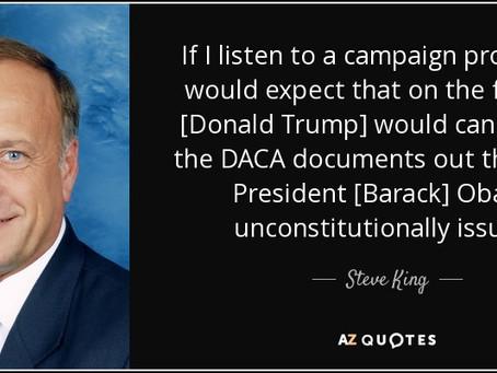Steve King: si Trump no cumple impugnaré DACA en los tribunales