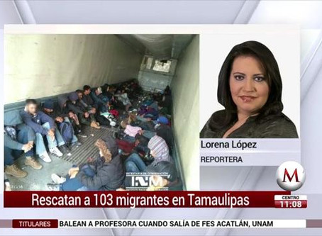 Coyote escapa con dinero y abandona tráiler con 103 ilegales centroamericanos en México