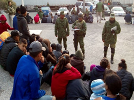 Coyotes con ilegales caen en retén militar de Oyama: son 328 detenidos en menos de un mes