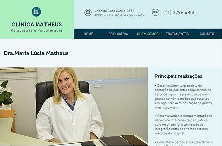 Site Clinica Matheus