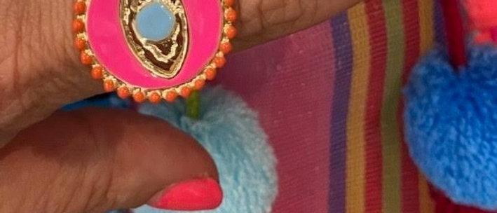Evil Eye Ring Brass