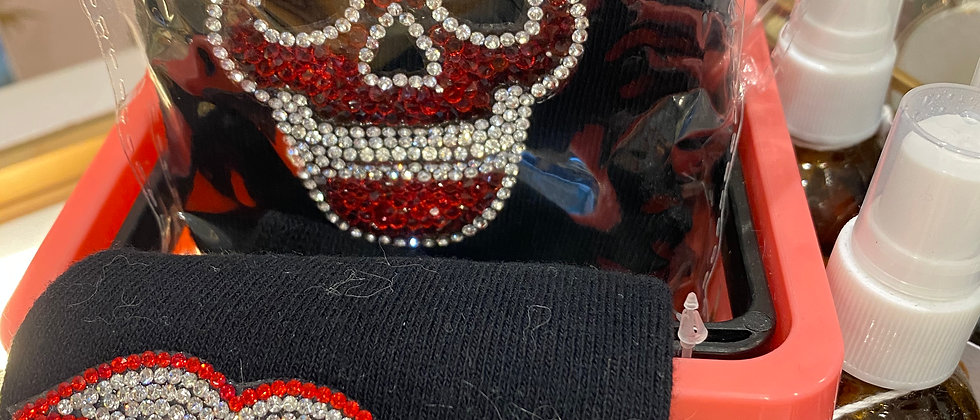 Skull and Lips strass mittens