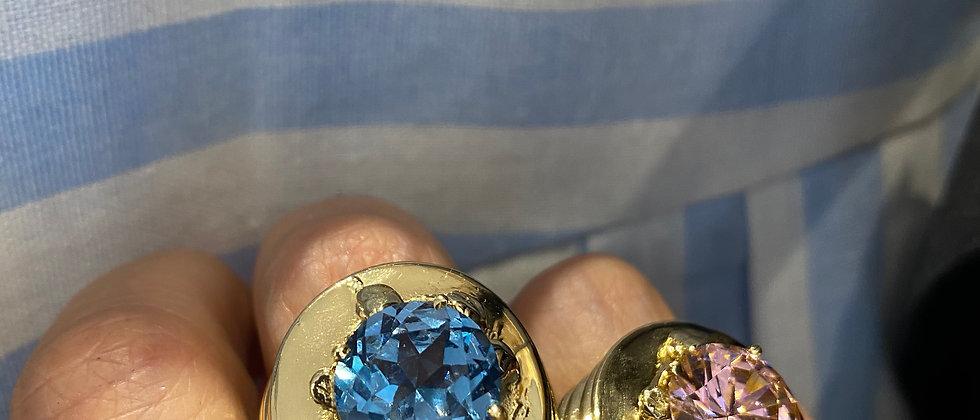Crystal Ring Brass