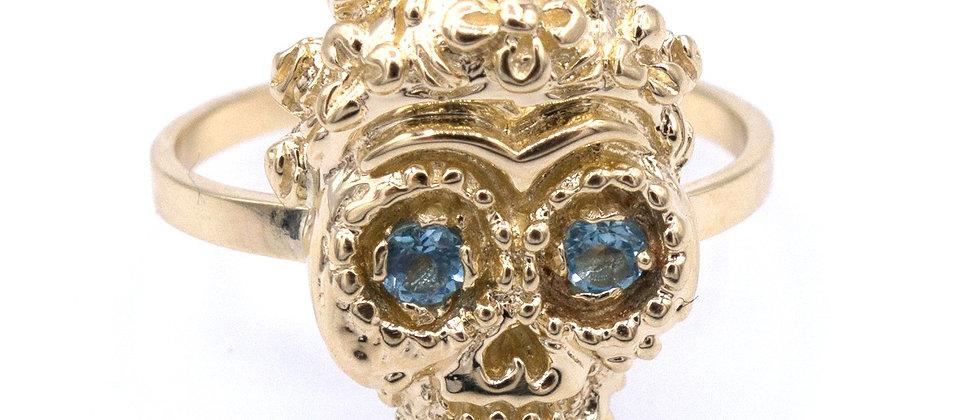 Frida sugar skull ring