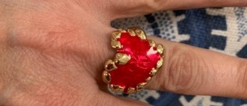 Heart Ring Brass