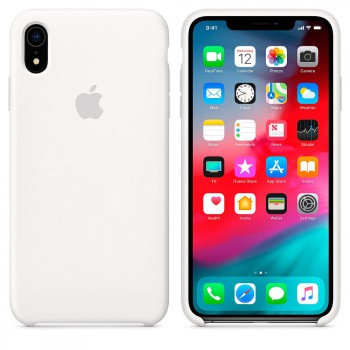 Силиконовый чехол для iPhone XR (Белый)