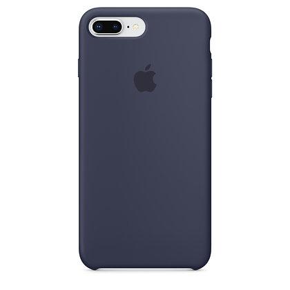 Силиконовый чехол для iPhone 8 Plus/7 Plus (Темно-синий)