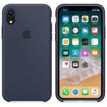 Силиконовый чехол для iPhone XR (Тёмно-синий)