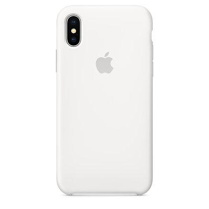 Силиконовый чехол для iPhone X (Белый)