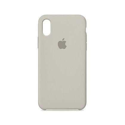 Силиконовый чехол для iPhone X (Серый)