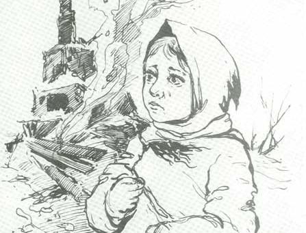 На большой художественной выставке «Сибирь – фронту»...