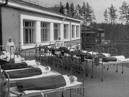 Для реабилитации выздоравливающих раненых и поддержания здоровья жителей...