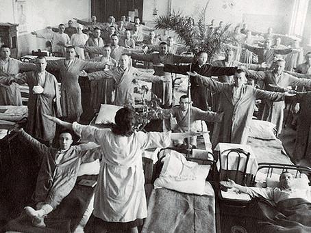 В городе в военное время было проведено около 55 тыс. хирургических операций...