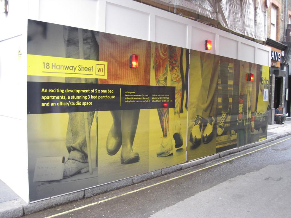 soho hoarding hanway street