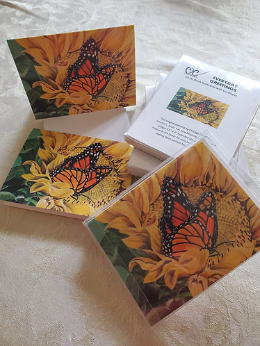 Monarch on Sunflower - Notecard Pack