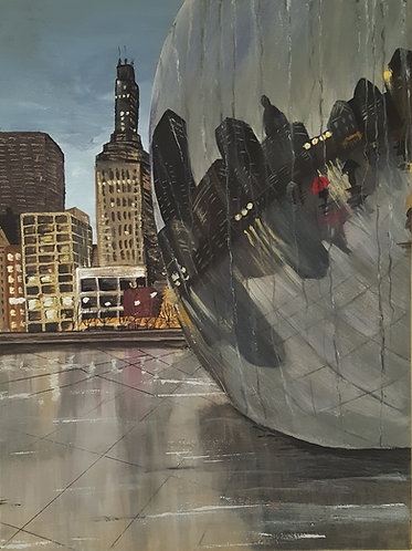 """""""Cloudy Day at Cloud Gate"""""""