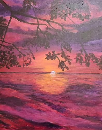 Purple & Orange Water Sunset