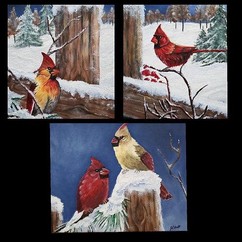 Winter Cardinals - Notecard Pack PRE-ORDER