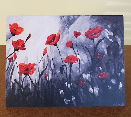 It's Not All Gray - Poppies - Notecard Pack