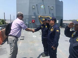 """Buque de Apoyo Logístico de nombre ARC """"Golfo de Morrosquillo"""" visita Barranquilla."""