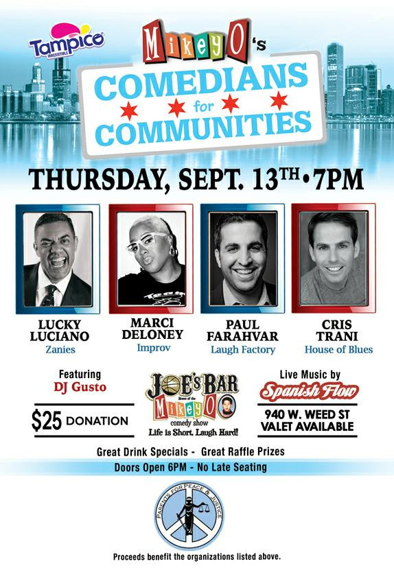 Comedians for Community benefiting Parents for Peace & Justice