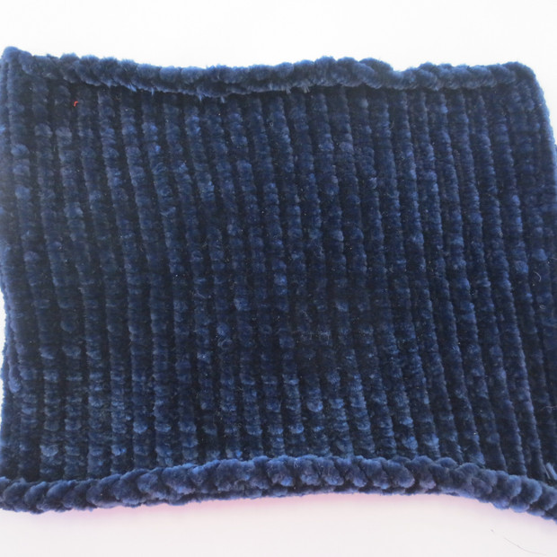 Knit in velevet yarn.