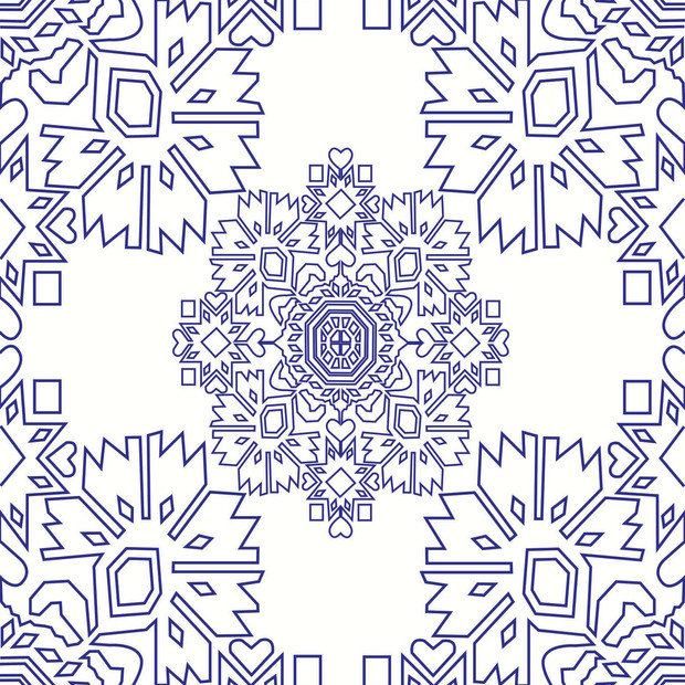 Blue parrot-vector print.