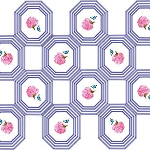 Poligon floral print.