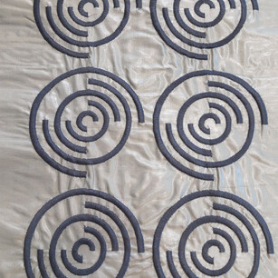 Silk fabric with embroidery.