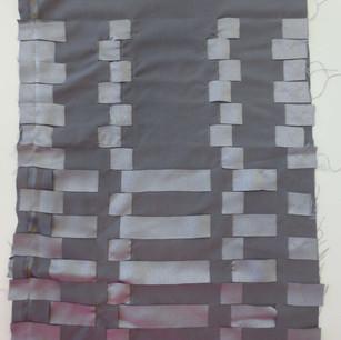 Linen fabric in handwoven pattern.