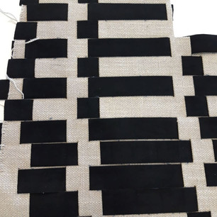 Thick linen fabric with handwoven velvet.