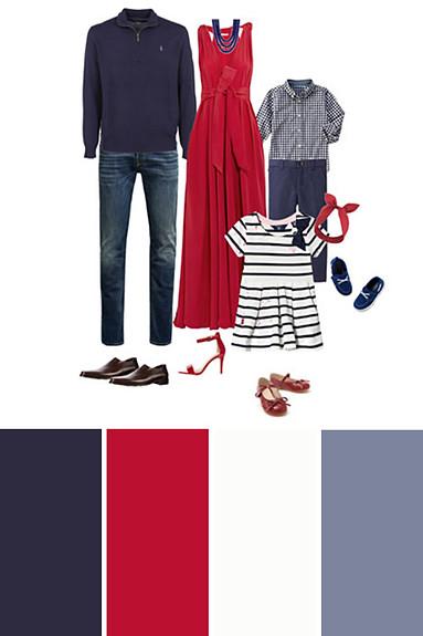 Červená a modrá
