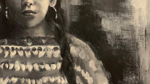 """""""Lakota Girl"""" 16x12"""""""