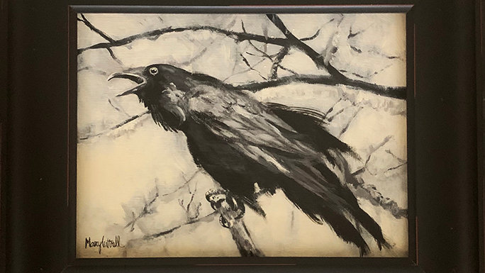 """Winter Raven"" 9x12"""
