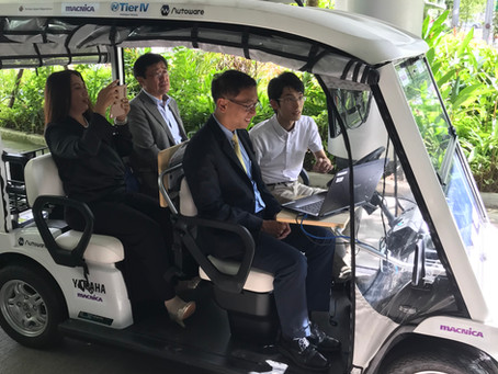 The Autoware Foundation and MACNICA showcased autonomous driving at Amata Smart City, Thailand