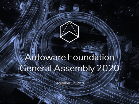 Autoware Foundation General Assembly 2020