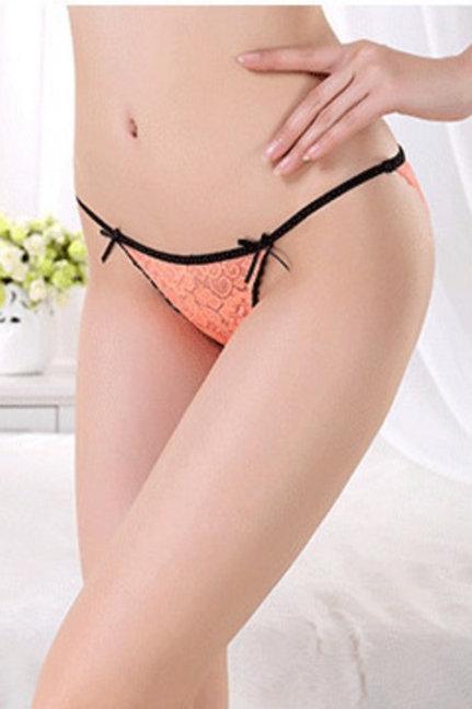 Bright Orange String Bikini Panty