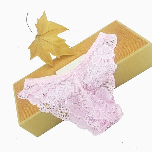 Cheeky Pink Lace Panty