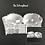 Thumbnail: White 3 in 1 Lace Lingerie Set