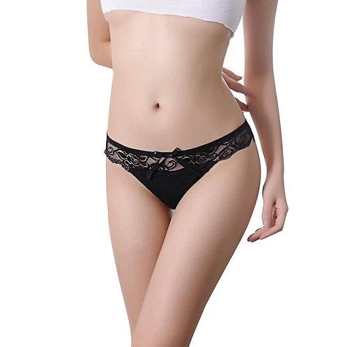 Black Cheeky Bikini Panty
