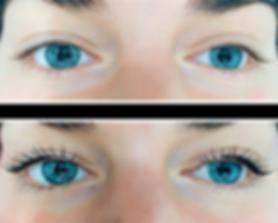 Примеры работ до и после ламинирование ресниц