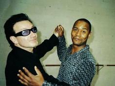 Dancing away with Bono, U2.