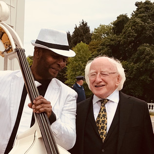 Both Artists and both friends! Besides the President of Ireland, Michael. D. Higgins.