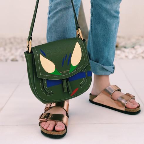 Marc Jacobs bag, handpainted