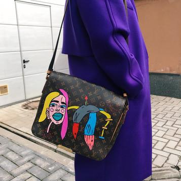 LV bag, handpainted