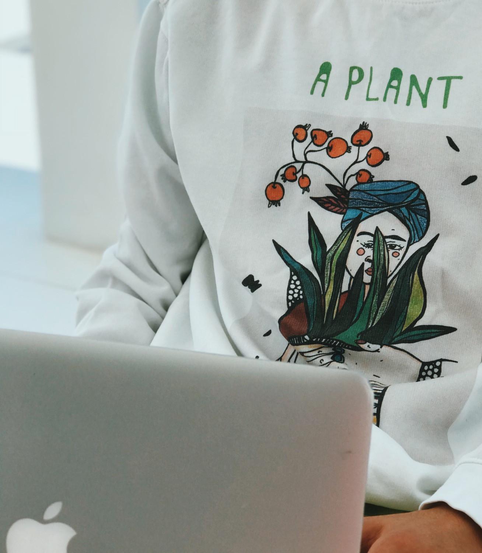 Print on sweatshirt