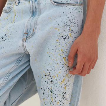 Denim jeans, handpainted